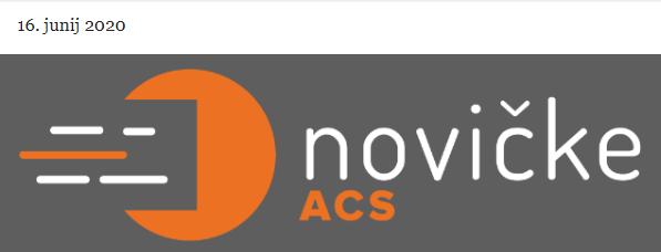 Vabimo k branju junijske številke e-Novičk ACS